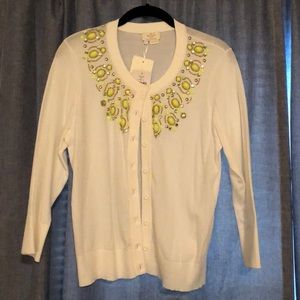 Kate Spade cardigan with beading